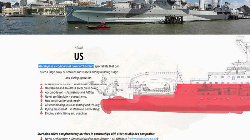 homepage start ships