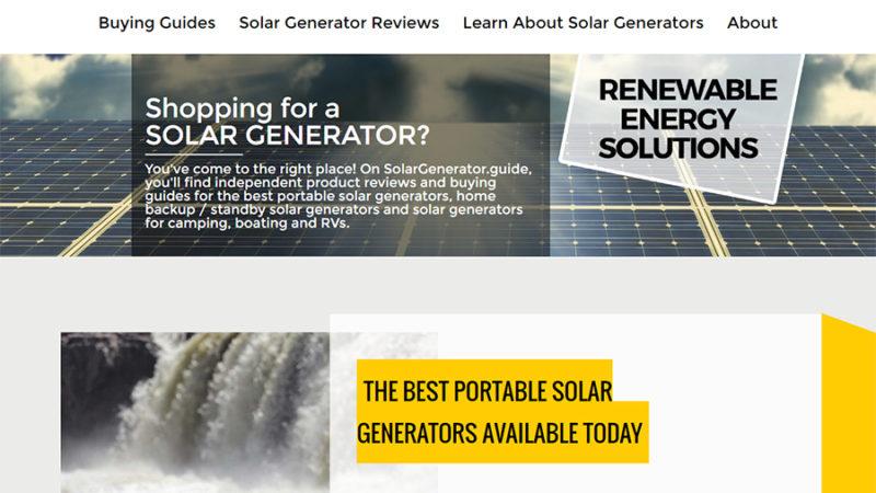 Homepage solar